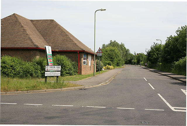 Junction of St Vigor Way and Upper Moors Road, Colden Common