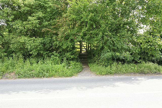 Footpath to Upper Moors Road from Brambridge