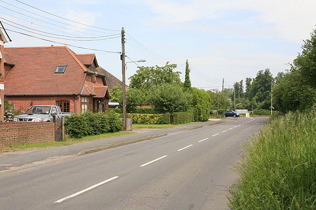 Western end of Church Lane, Brambridge