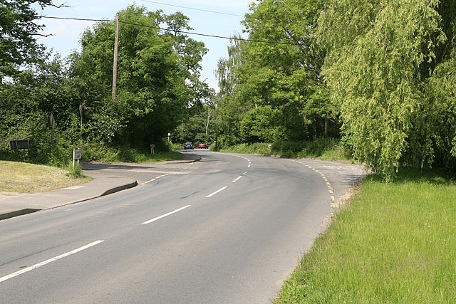Church Lane junction with Bishopstoke Lane, Colden Common