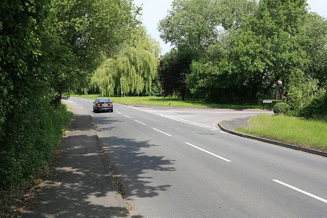 Junction of Church Lane with Tees Farm Road, Colden Common