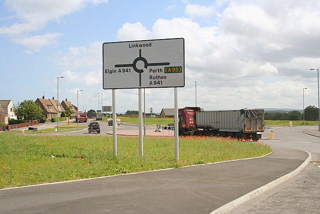 The new roundabout , New Elgin.