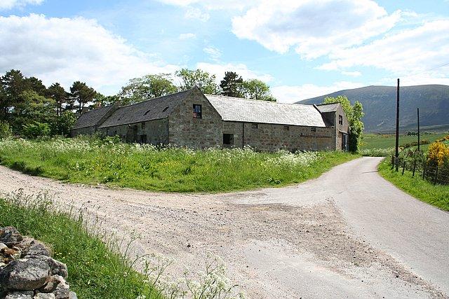 Lower Blairnain farm steading.