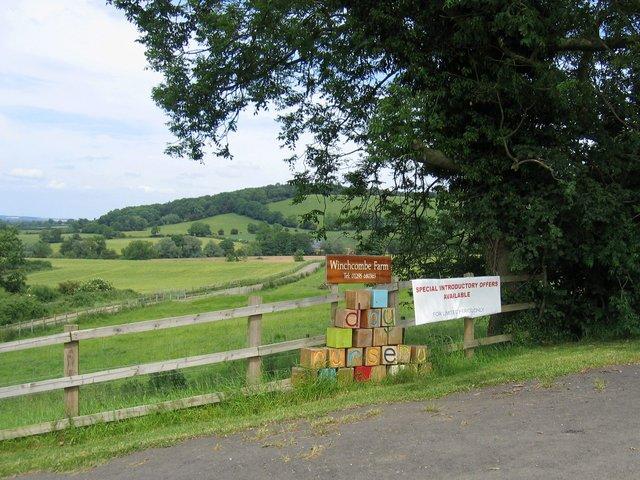 Driveway to Winchcombe Farm