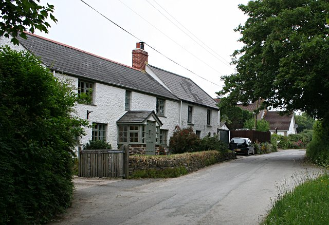 Cottages near St Erme Church
