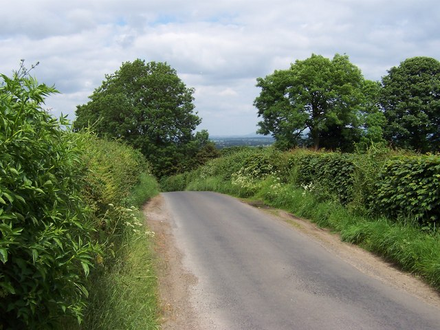 Lane from Grewelthorpe towards Mickley