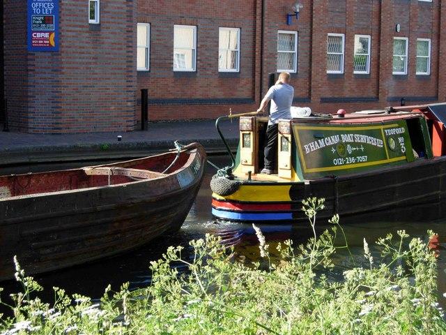Boating through Birmingham