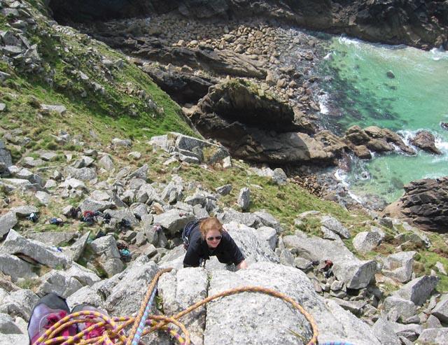 Climber at Bosigran