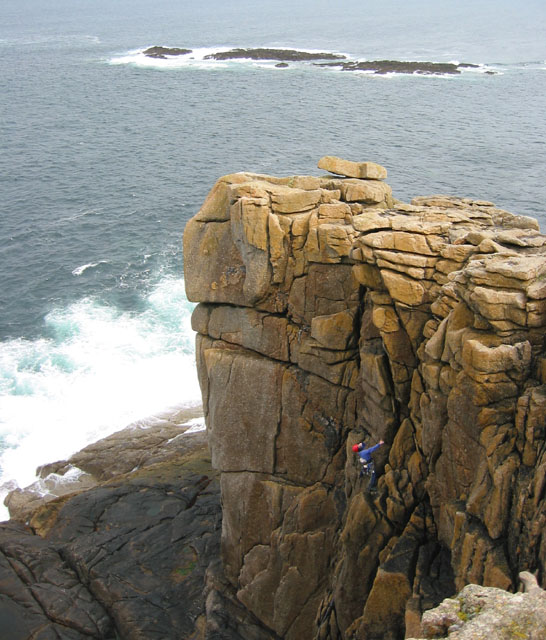 Climber at Sennen