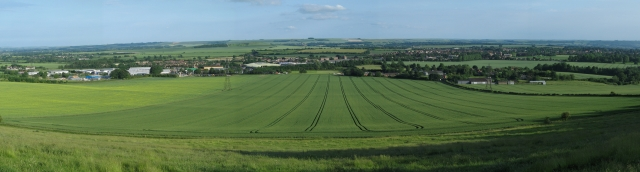 Panoramic view of Devizes from Roundway Hill