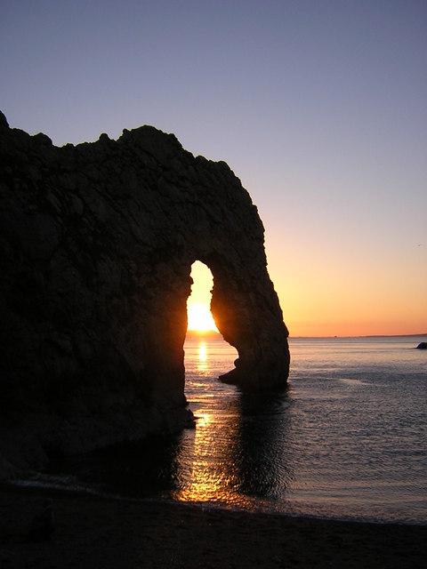 Durdle Door at Sunset