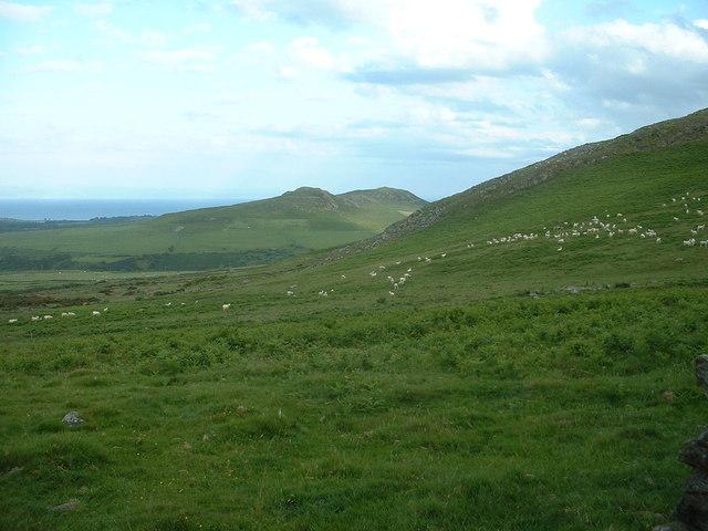 Farmland below Garn Bach
