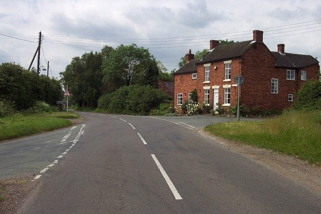 Crossroads near Calf Heath