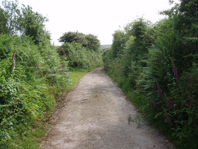 Track from Tregonning Farm to Tregonning Hill