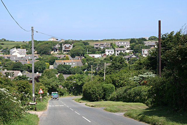 Housing above Porthtowan