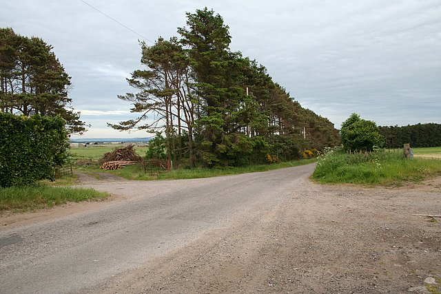 West of RAF Lossiemouth in the vicinity of Gordonstoun School