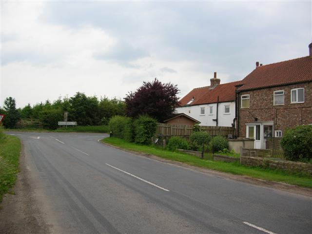 Junction with the Tollerton road