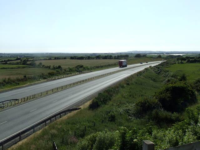 The A55 South of Gwalchmai