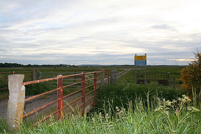 Looking West over Milltown airfield, Morayshire.