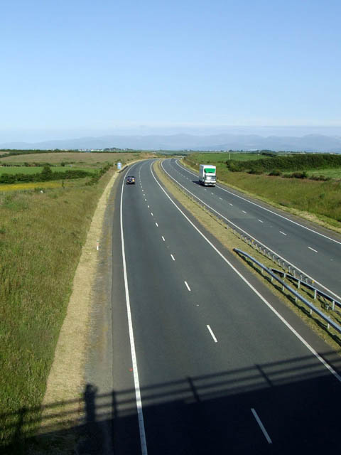 Eastbound carriageway of the A55