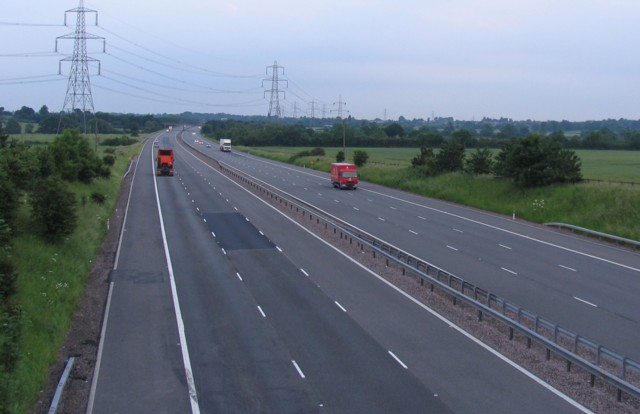 M69 towards Coventry