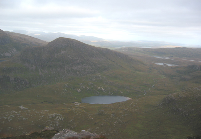 View east from Cul Beag