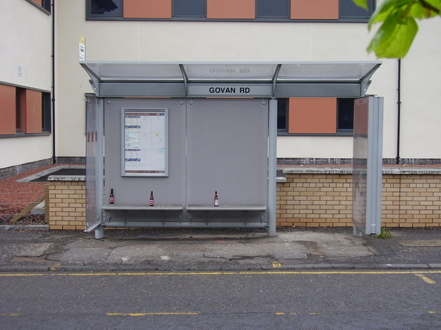 Bus Stop Saturday Morning