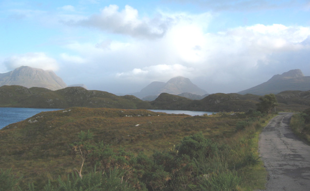 Inverpolly Mountains from Loch Buine Moire