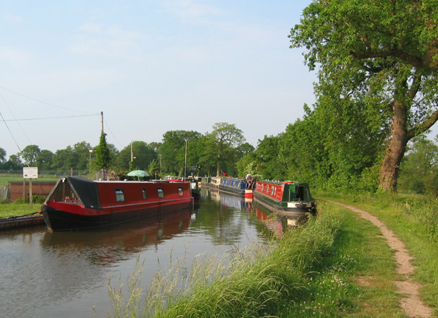 Canal boats by Wrenbury