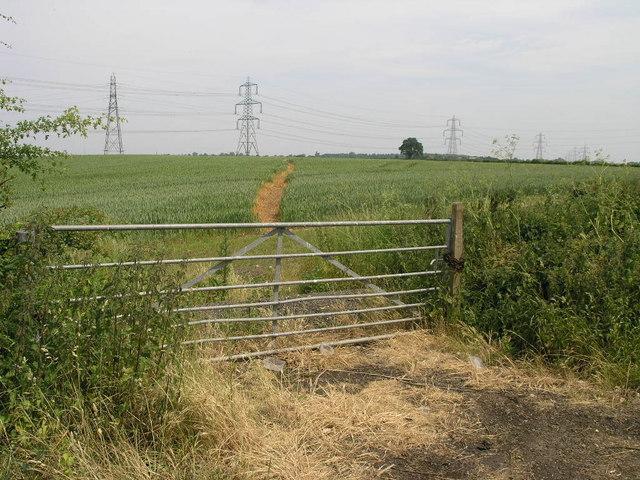 Footpath over Burton Fields