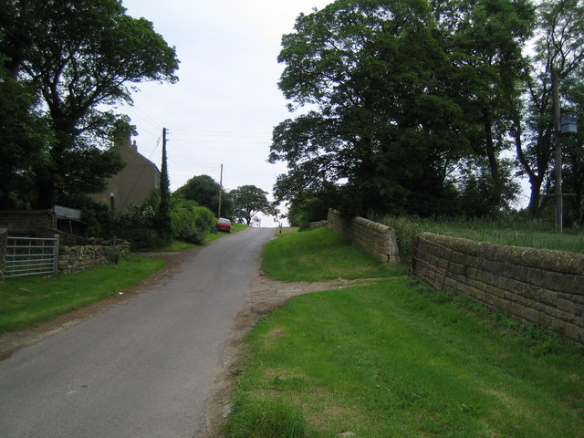 Country lane approaching Dunsley Manor