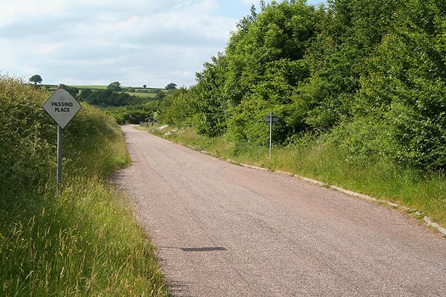 Loxbeare: lane near Buttermoor