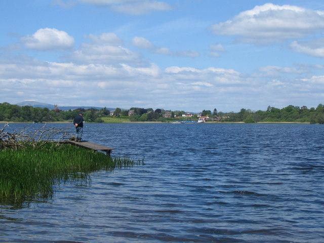 Fishing at Castle Loch