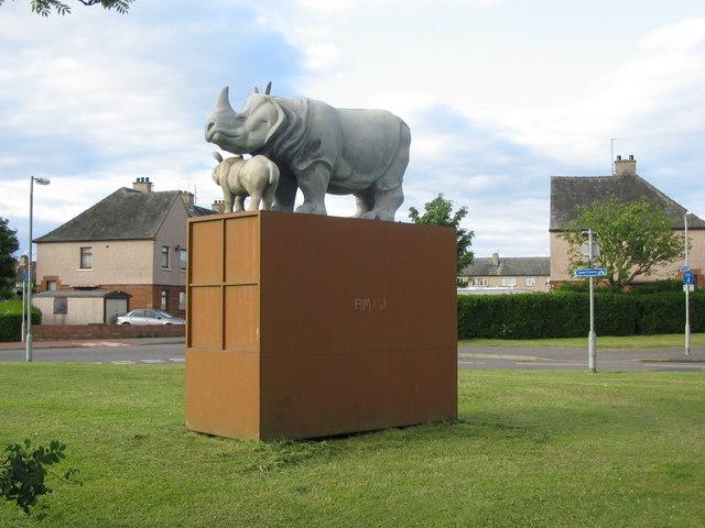 Rhino statue, Lincluden