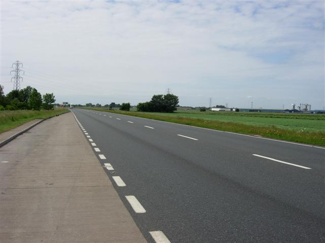 The A17 near Little Sutton