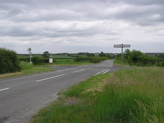 Crossroads :  Looking east  towards Stillington Bridge