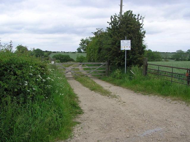 Track to Stillington Pumping Station.