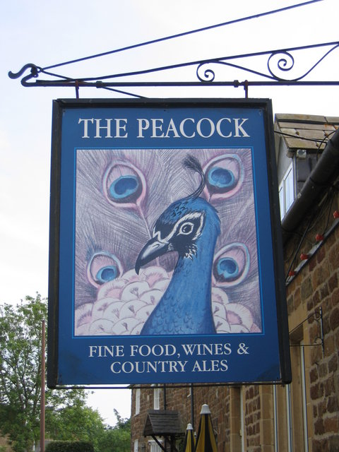 The Peacock sign