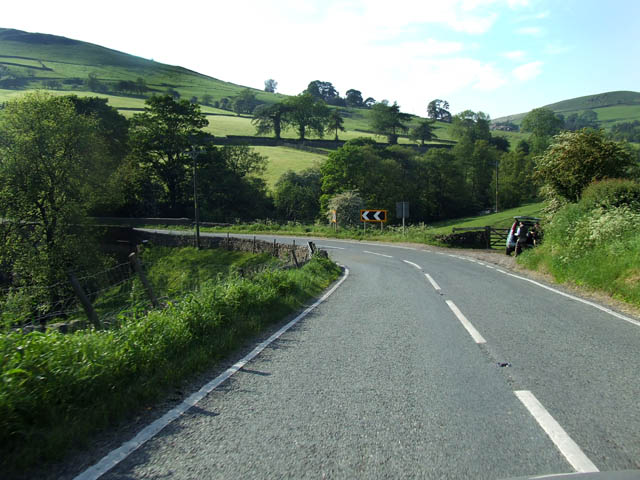 A sharp bend on the A54