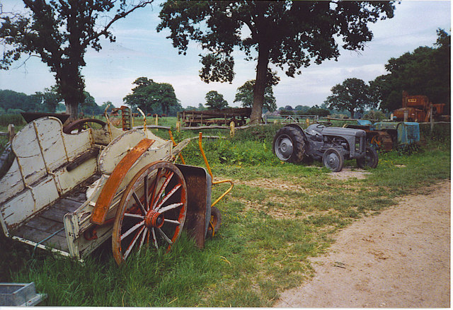 Old Farm Machinery at Brinsbury Campus.