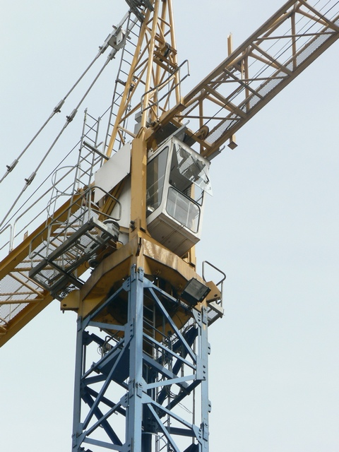 Tower crane cab, off Harper St, Leeds