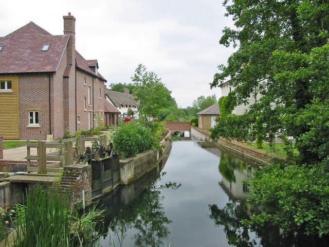 New housing by the River Allen New Town Witchampton Dorset