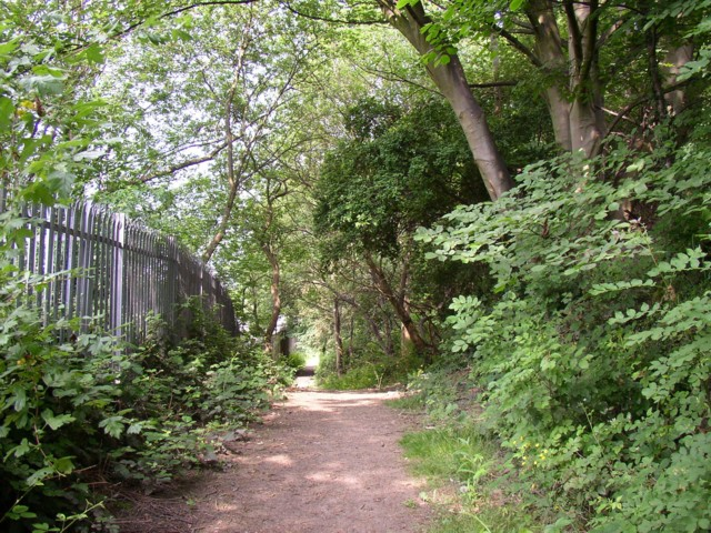 Footpath at Wood End, Salford, Almondbury