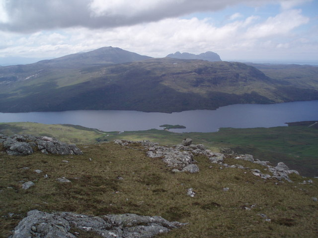 View southwest from the slopes of Glas Bheinn.