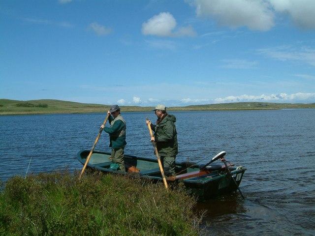 Pushing off into Loch Gorm Islay