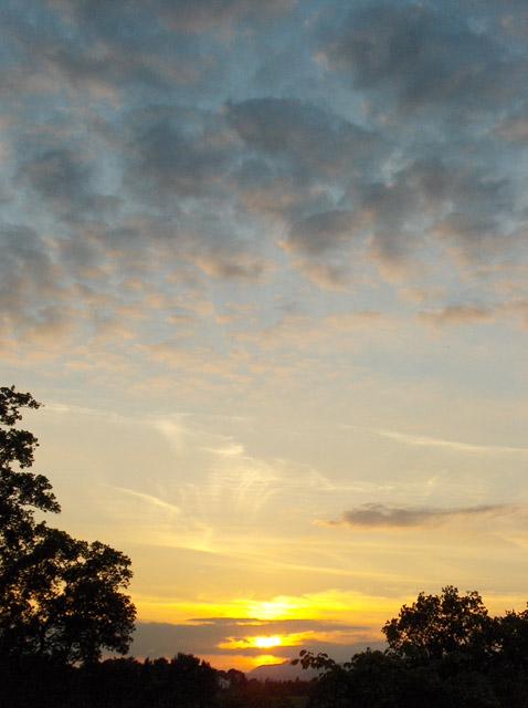 Sunset above Wharry Bridge