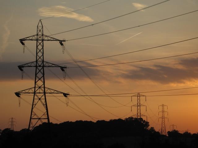 Pylons near Rowde Croft Farm