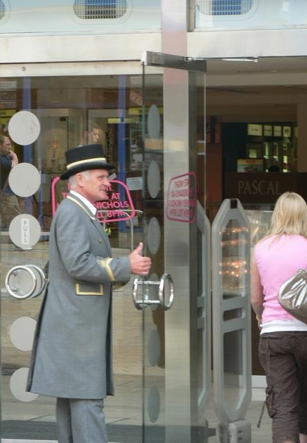 Doorman, Harvey Nichols, Briggate, Leeds