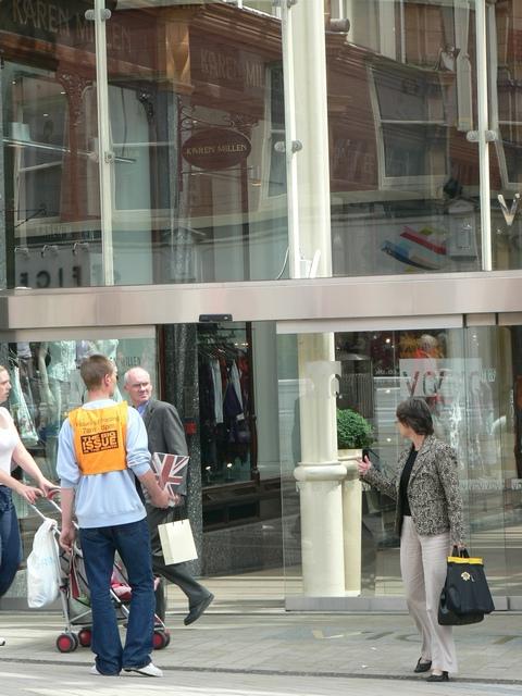 Big Issue Seller, Victoria Quarter, Leeds