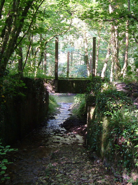 Disused railway bridge over stream near Gara Bridge